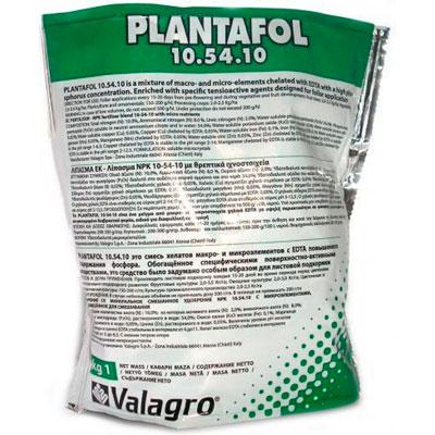 Купить Плантафол 10 54 10 удобрение valagro